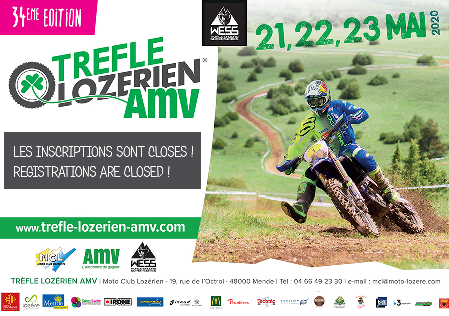 Trefle lozérien AMV inscriptions